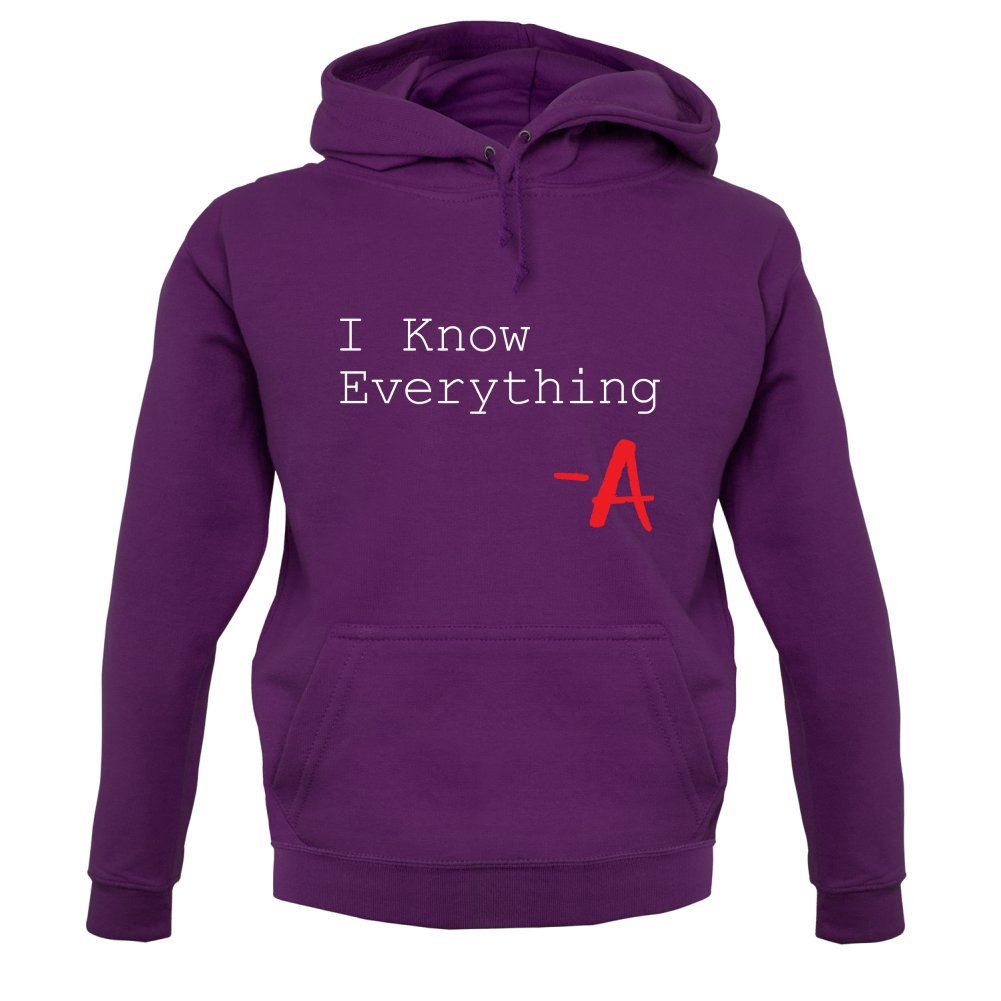 Unisex Pull Dressdown I Know Everything 12 Couleur