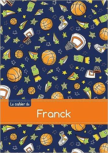 Téléchargement Le cahier de Franck - Blanc, 96p, A5 - Basketball pdf ebook