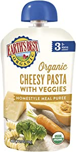 Earth's Best Organic Stage 3 Baby Food, Cheesy Pasta with Veggies,