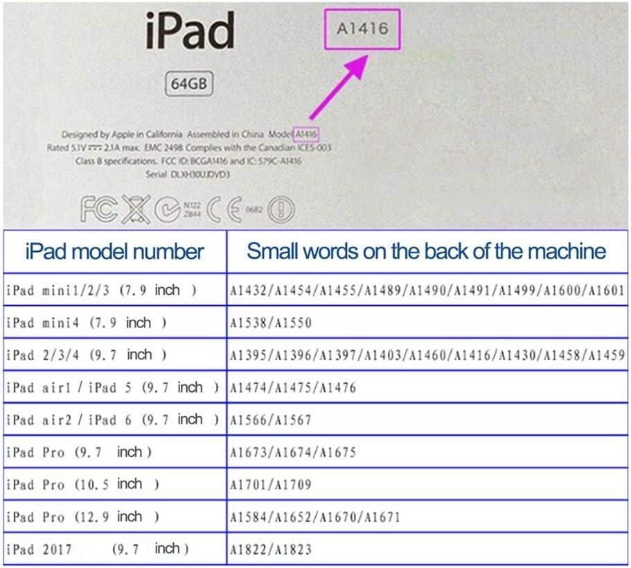 FANCYKIKI Funda para iPad Mini Soporte de Parachoques a Prueba de Golpes para ni/ños con Soporte r/ígido y Protector de Pantalla Incorporado para Apple iPad Mini 1//2//3 Generaci/ón