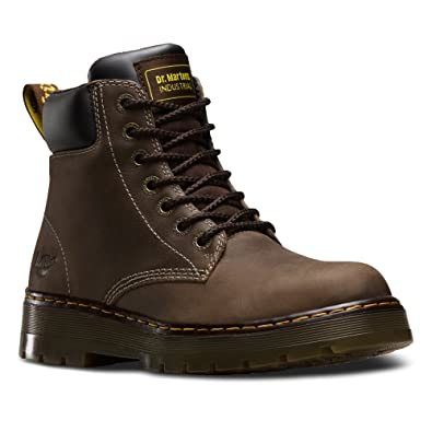 Dr. Martens Men's Winch 7 Eye Boot,Dark Brown Wyoming Leather,UK 6