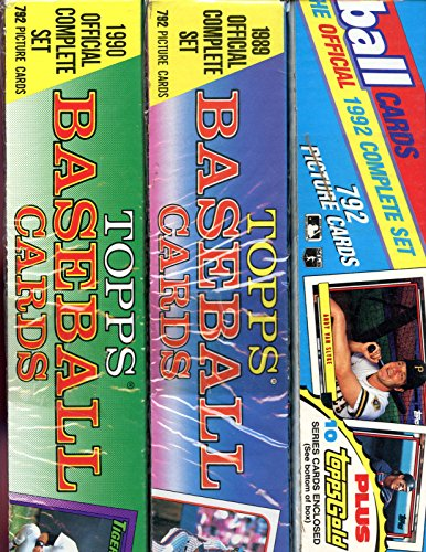 1989 1990 1992 Topps Baseball Card Complete Box Set Colle...