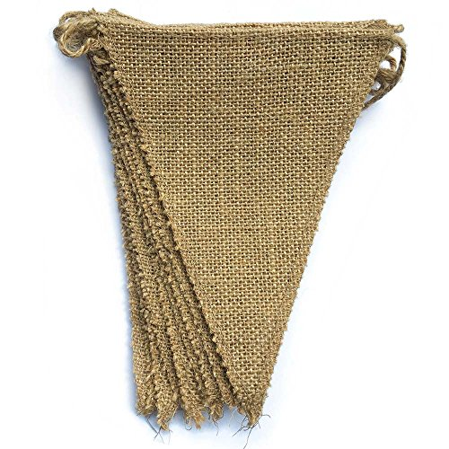 dealzEpic - Blank Rustic Burlap Banners for DIY Garden and Party Decoration...