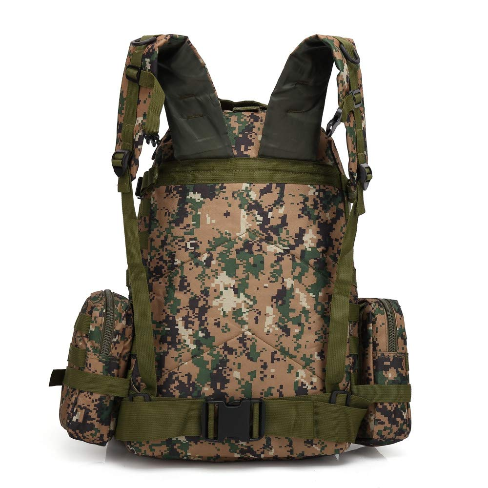 Military Tactical Bag, HOSOME Outdoor 60L Molle Military Tactical Bag Camping Hiking Trekking Backpack Travel Bag