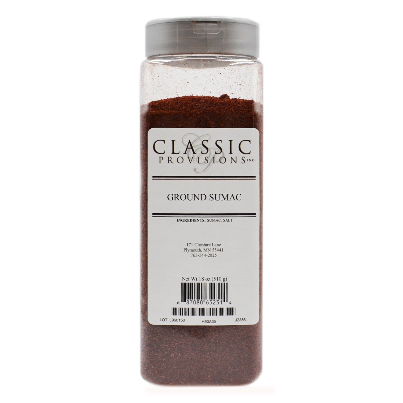 Classic Provisions Spices Ground Sumac, 18 Ounce