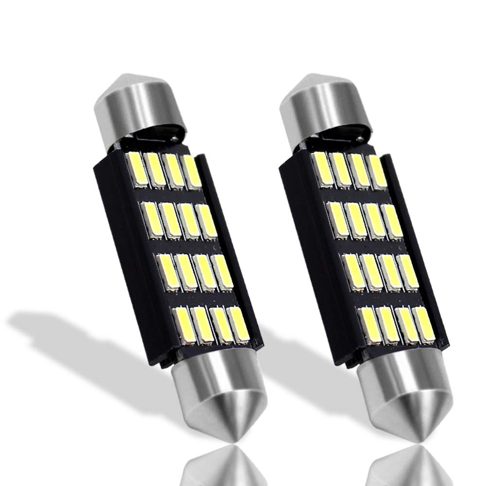 Boodled 4X Extremely Bright 41mm 16-SMD Festoon 4014 Chipsets Canbus Error Free 569 578 211-2 212-2 LED Bulbs Super White(4xSJ-4014-41MM-16) Guangzhou BD Photoelectric Technology Co. Ltd