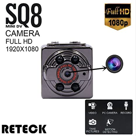 Amazon.com : RETECK SQ8 Mini DV Camera 1080p Full HD Car DVR Body Motion Detection Night Vision Nanny Video Recorder Camcorder for Home Security : Camera & ...