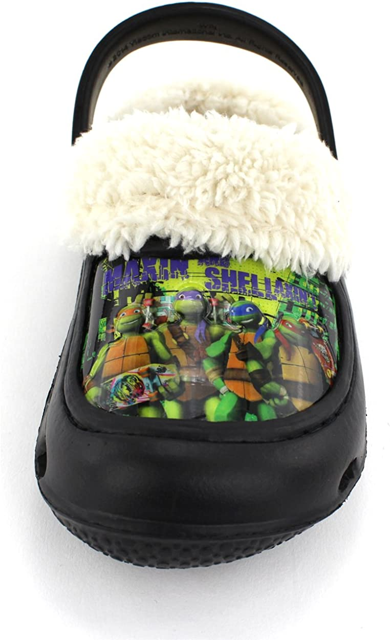 Amazon.com: Los niños de las Tortugas Ninja Negro Zuecos con ...
