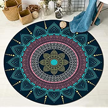 Amazon Com Hvest Mandala Area Rugs Lotus Flowers Round