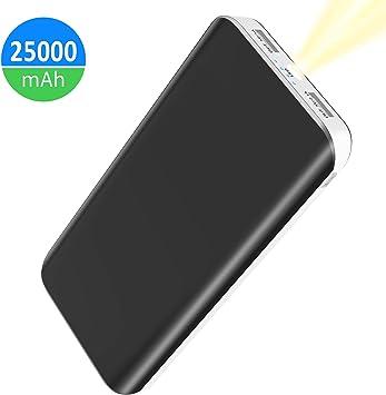 Batería Externa 25000mAh, Power Bank Alta Capacidad con 2 USB ...