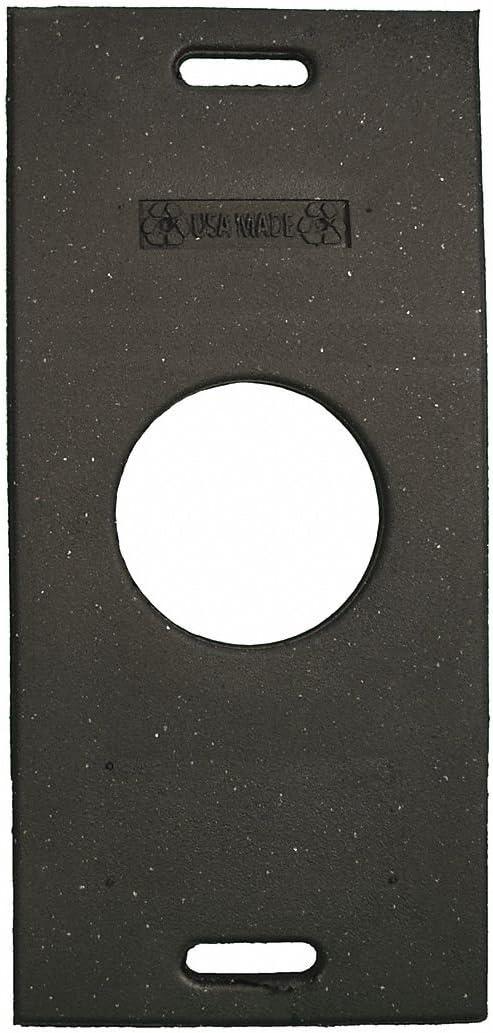 Recycled Rubber 30 lb 30 x 14-1//2 x 3 Trim Line Base Black