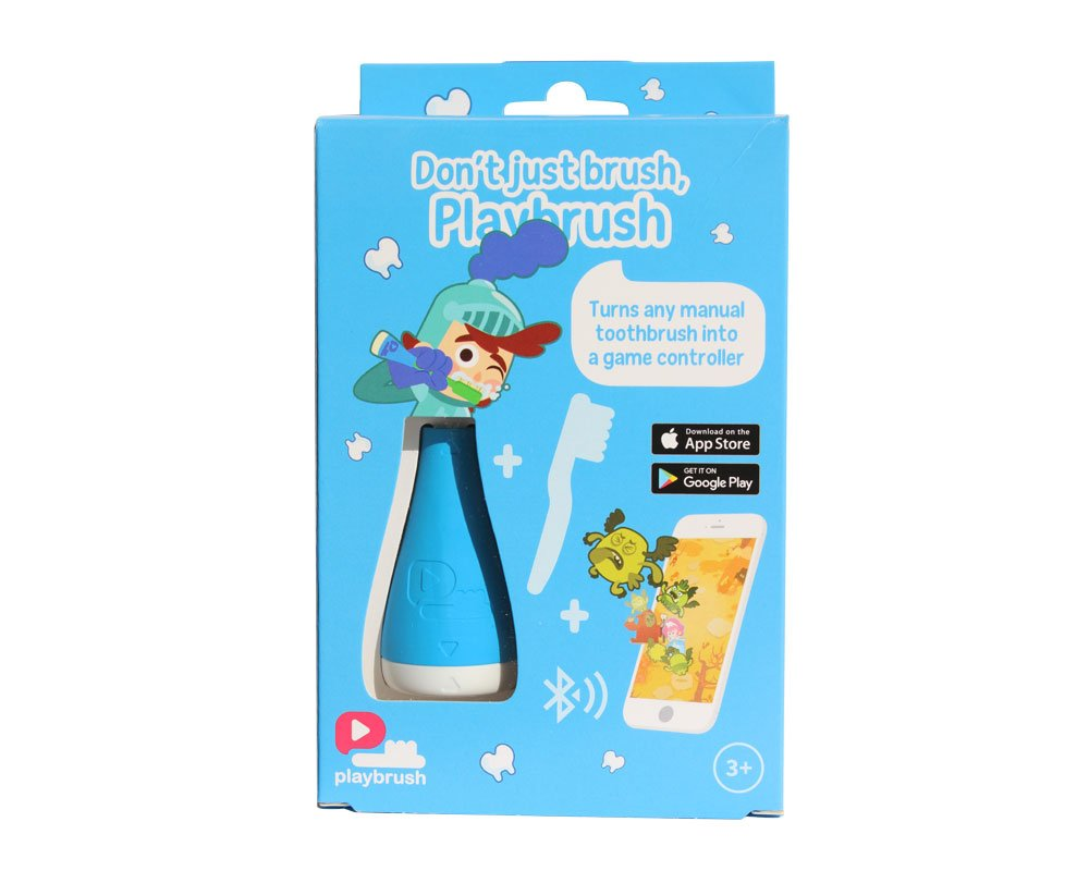 PlayBrush Blue (attaches to Any Manual Toothbrush, transforms it into a Game Controller,Play Fun and Instructional Mobile Games) PBR1