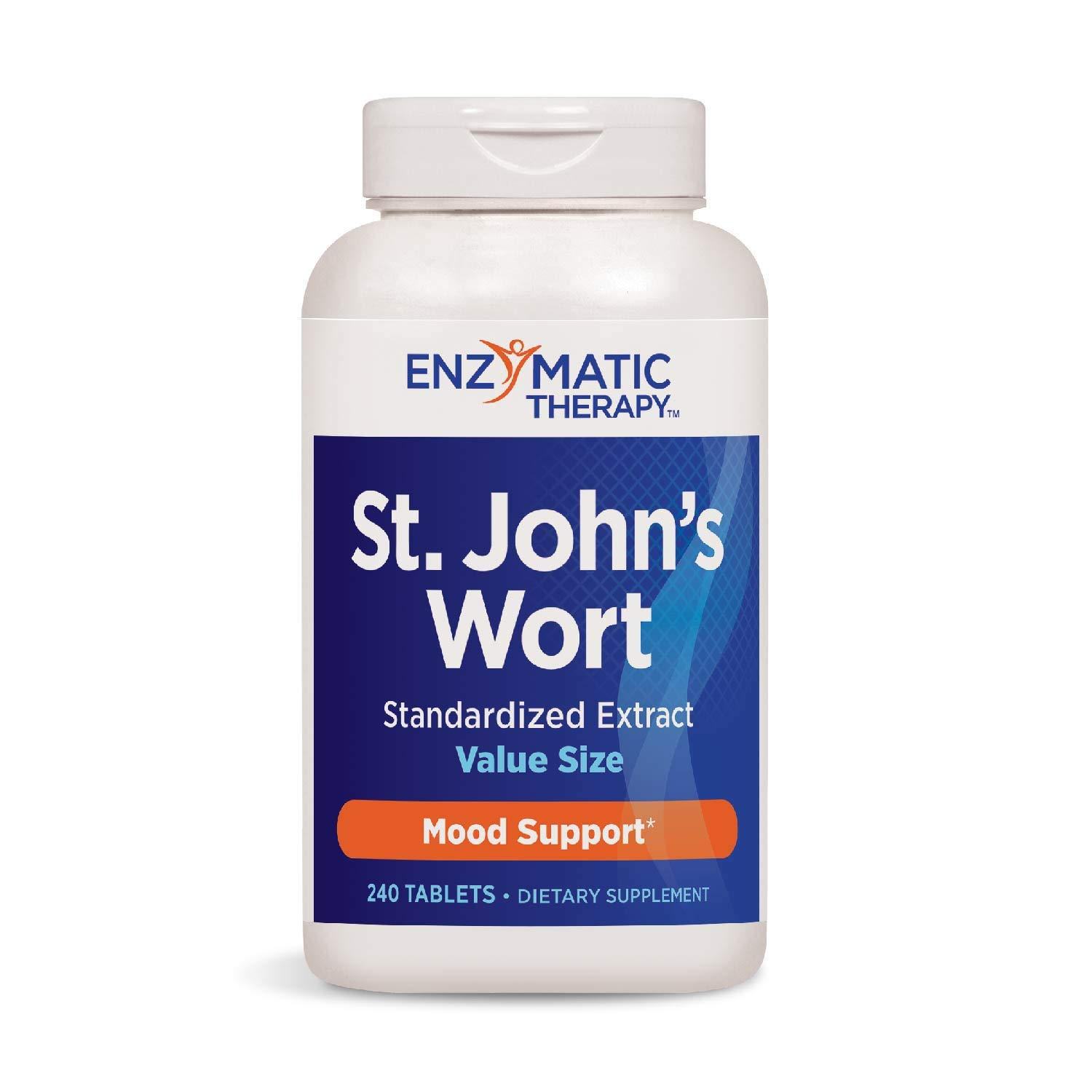 Enzymatic Therapy St. John's Wort Standardized Extract Mood Support, 240 Count (Packaging May Vary)