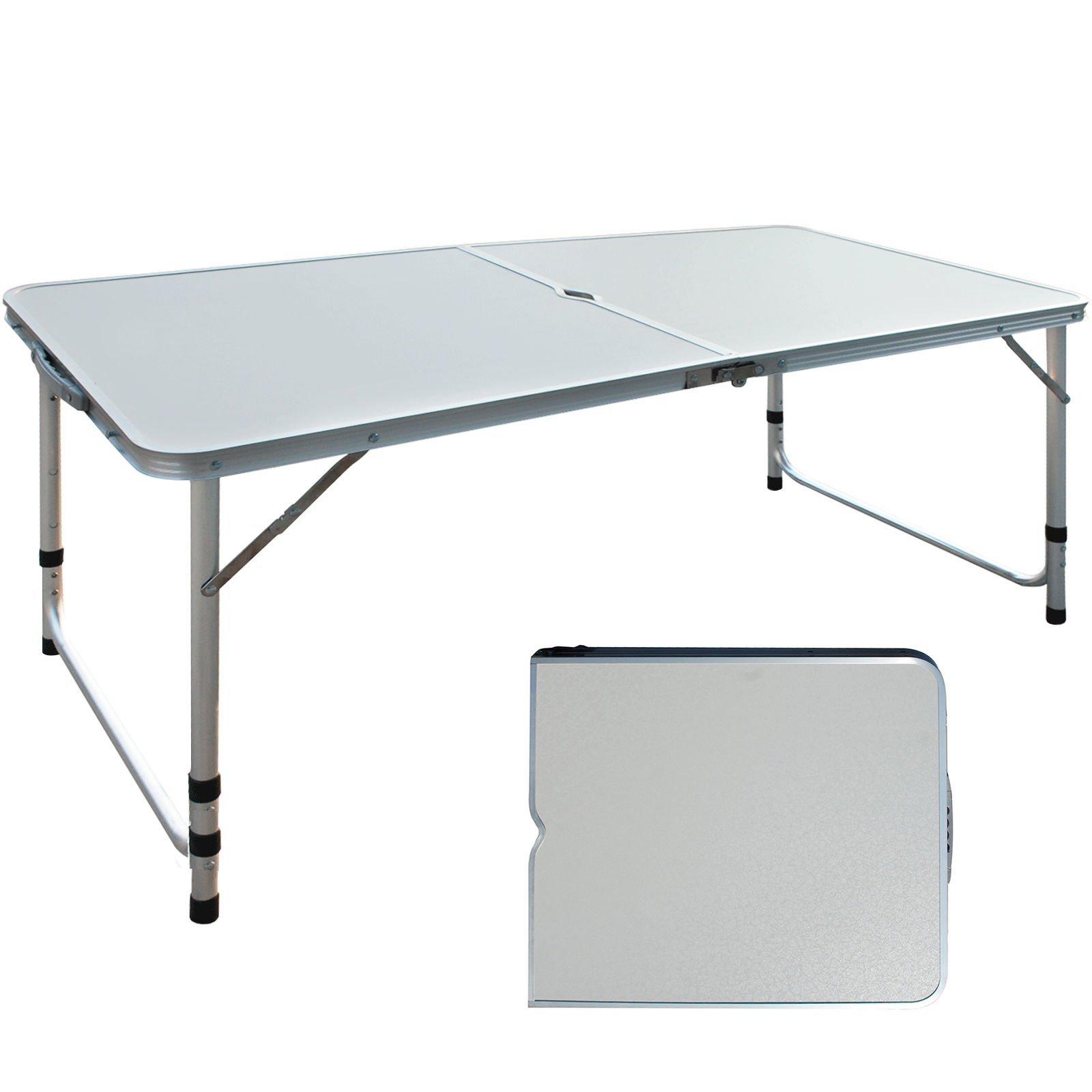 Aluminium Adjustable Camping Folding Portable Picnic Garden Patio Outdoor Table