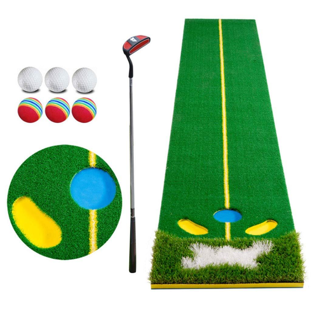 パットトレーナー、EVAゴルフプラクティスマット、室内屋外練習用ブランケット、折り畳み式 B07GVGLNMK Practice blanket+putter+6 balls Practice blanket+putter+6 balls