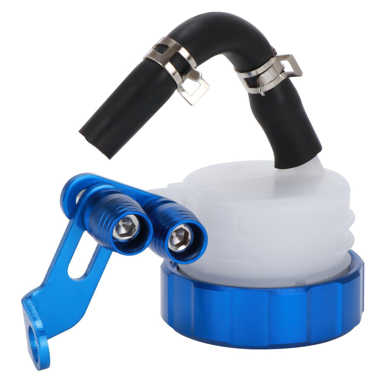 BRAUTO Motos CNC Cilindros depósito Freno Delantero Embrague Tanque Líquido Taza de Aceite Azul: Amazon.es: Coche y moto
