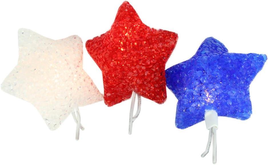"Christmas Holiday Star Patriotic 4th of July Metal String Garland 50/"" NEW"
