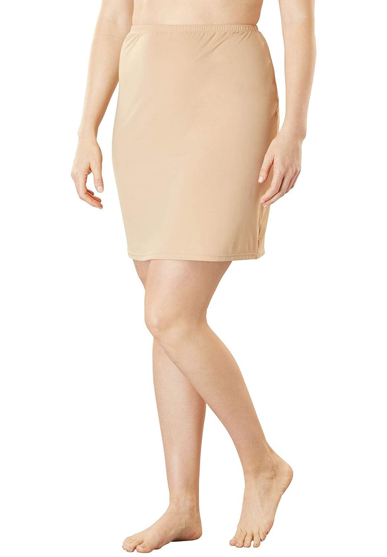 Comfort Choice Womens Plus Size Microfiber Half Slip