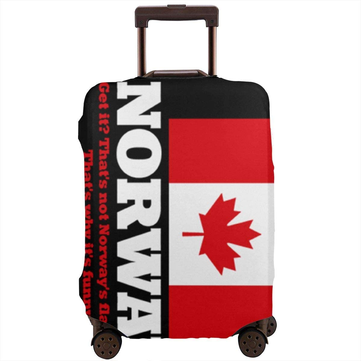 Norwegian Flag Canada Flag Travel Luggage Cover Suitcase Protector Washable Zipper Baggage Cover