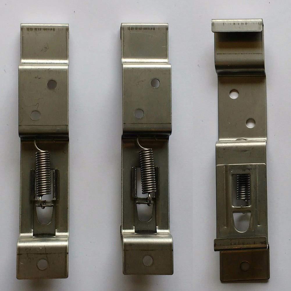 soporte de resorte de acero inoxidable para placa de registro 2//4//6 clips para matr/ícula de remolque abrazaderas para matr/ícula