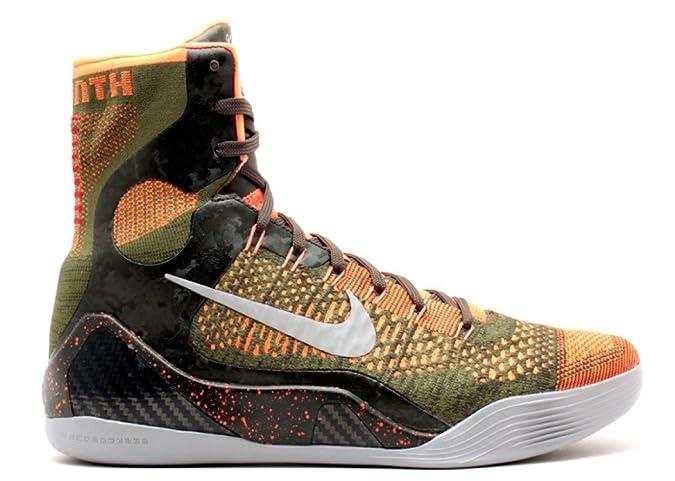 ef1ad1ca07f6 Nike Kobe IX 9 Elite Strategy 630847-303 Sequoia Green Silver Mens  Basketball Shoes (Size 10)  Amazon.in  Shoes   Handbags