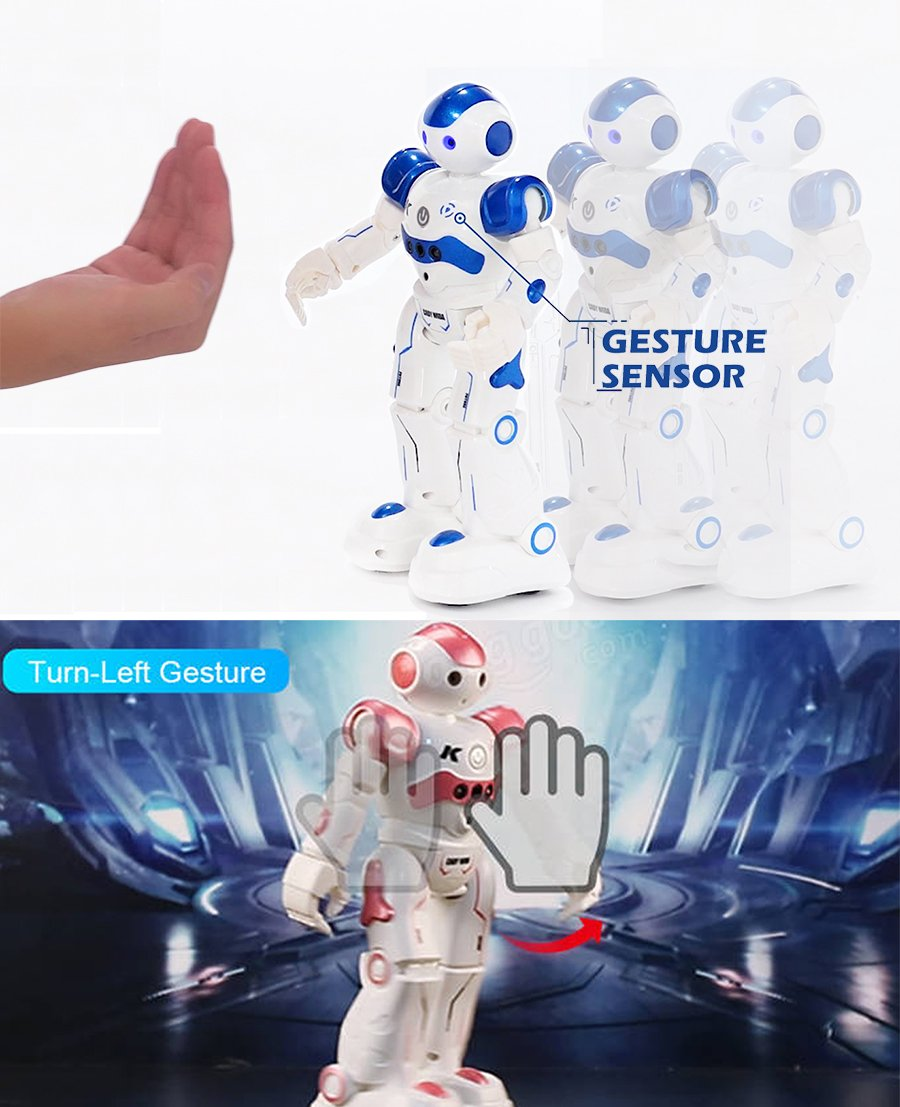 BTG R2 Cady-Wida Cady-WINI Intelligent Gesture Sensor Control RC Robot for Entertainment - Walks in All Direction, Slides, Turns Around, Dances - Toy for Boys/Girls RED by BTG (Image #3)