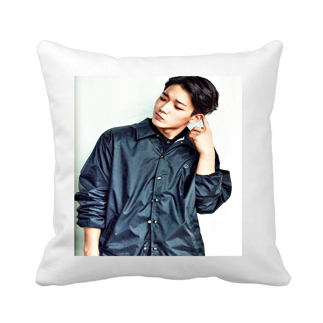 c1 Kpop iKon 14x14 Overdose Throw Hold Pillow Bolster Sofa Cushion B.I. Bobby Group YG Pillowcases (a)