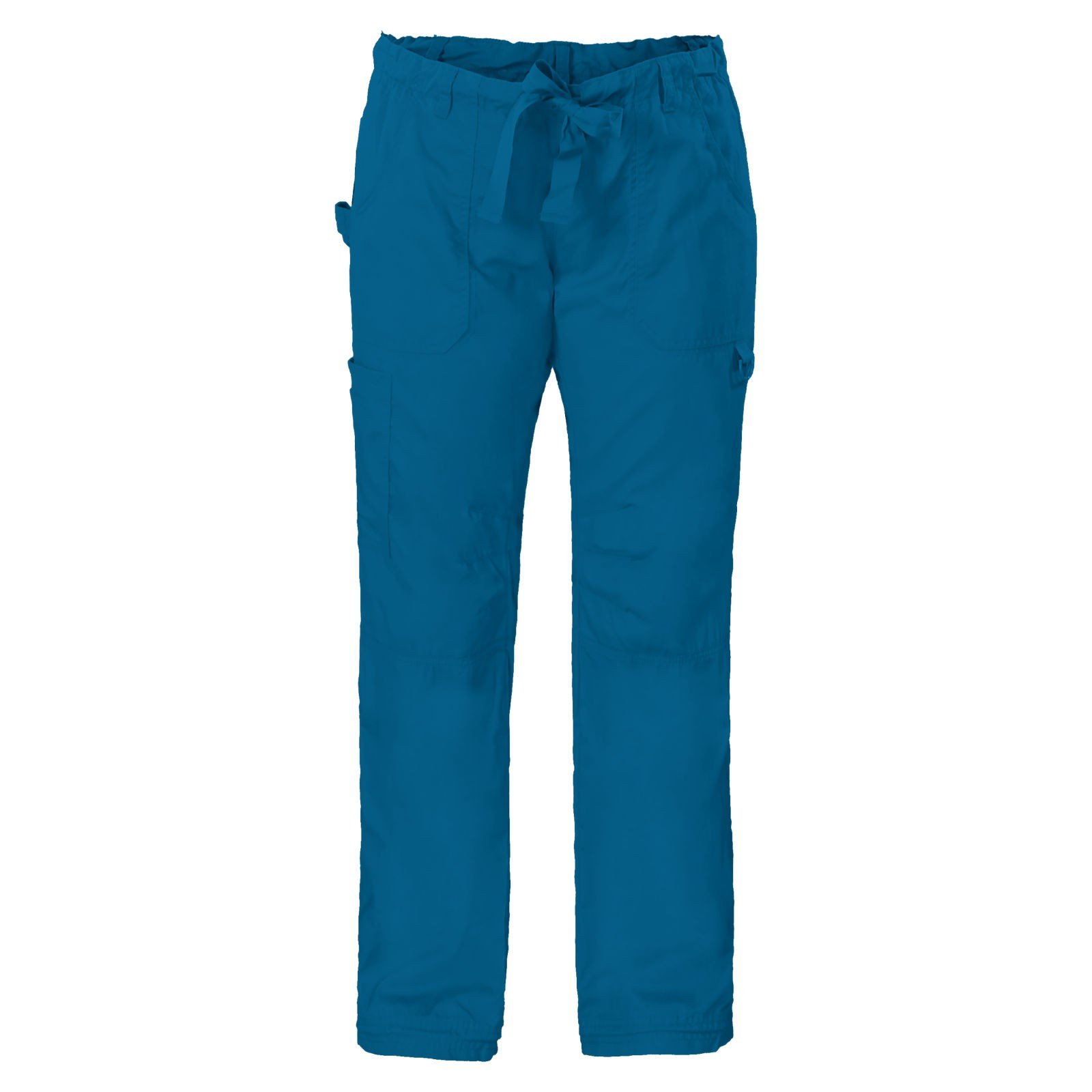 KOI Women's Lindsey Ultra Comfortable Cargo Style Scrub Pants (Petite Sizes) (P2X, Peacock)
