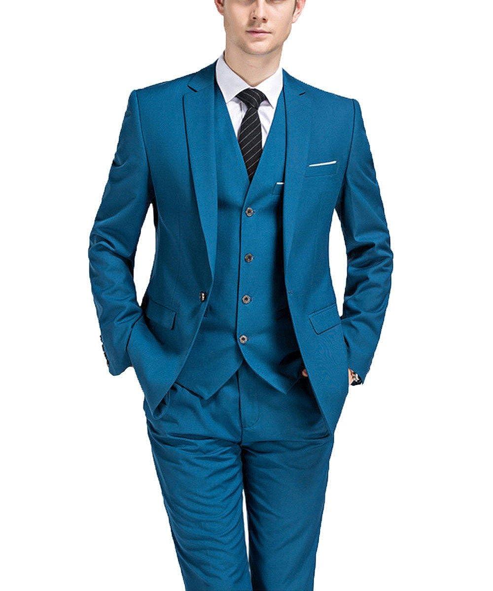 Pretygirl Men\'s Slim Fit Formal 3-Piece Solid Mens Suits Business ...