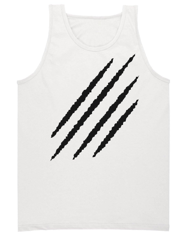Finest Prints Minimalistic Scratch Mark On The Wall Mens Tank Top Shirt