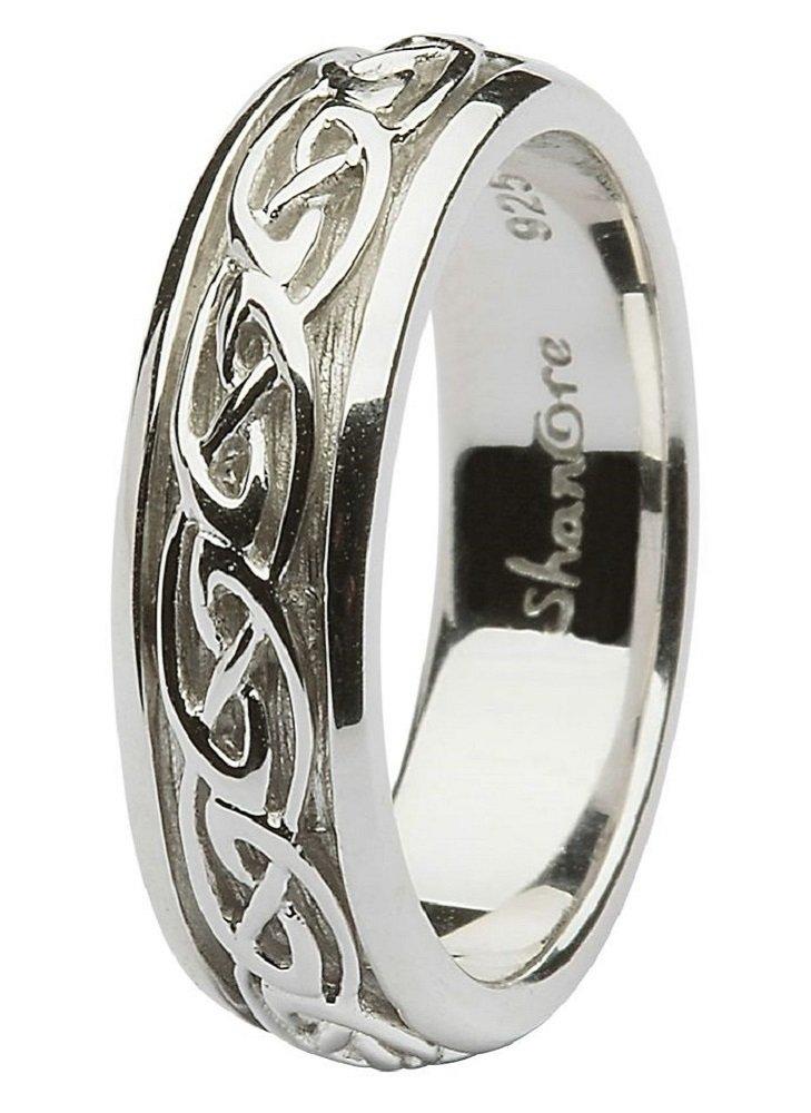 Sterling Silver Women's Celtic Wedding Ring (8)