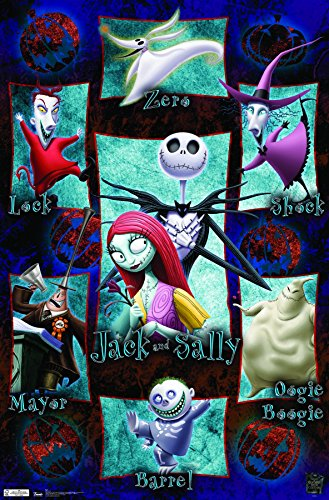 Trends International The Nightmare Before Christmas Grid Wall Poster 22.375″ x 34″