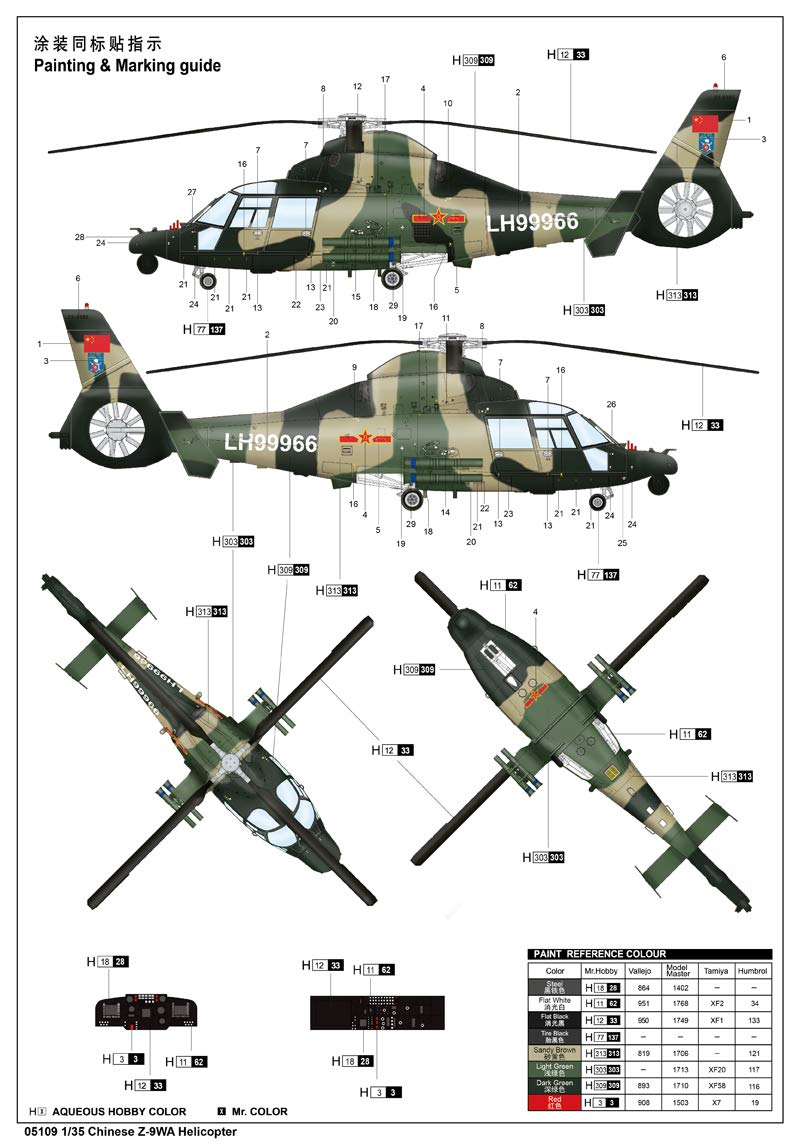 Trumpeter Chinese Z-9WA Helicopter Model Kit