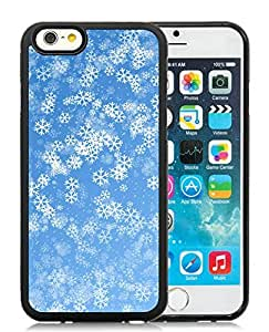 Popular Design iPhone 6 Case,Christmas Snowflake Black iPhone 6 4.7 Inch TPU Case 7