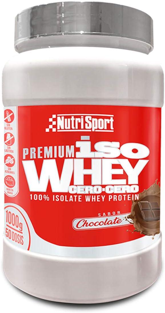 NutriSport Nutrisport - Iso Whey 0.0 Premium, Proteínas 90% En Polvo, Isoladas, Sin Lactosa, Sin Azúcar, 1Kg, Sabor Chocolate 1000 g