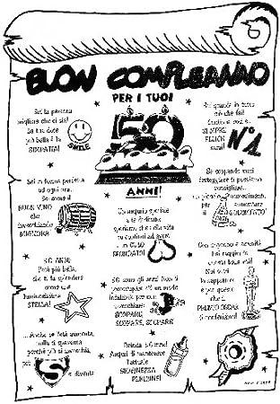 Pergamena Buon Compleanno Per I Tuoi 50 Anni Scherzo