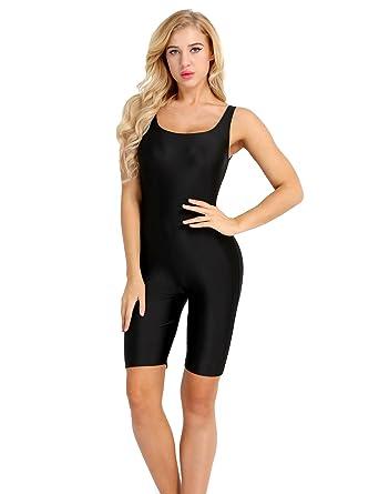 86766b5742 YiZYiF Women s Scoop Neck Sleeveless Tank Tops Shorts Bodysuit Jumpsuit  Rompers Black Small