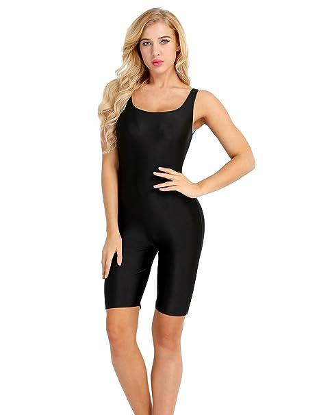 Freebily Ladies Girls Sleeveless Catsuit Unitard Dancewear One-piece Sports Leotard Bodysuit Jumpsuit