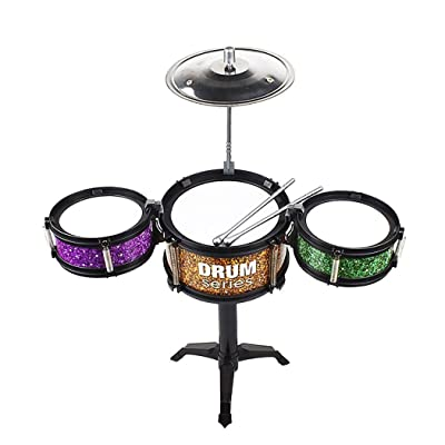 Modfine Children Simulation Jazz Drum Kit Toy Musical Instrument Percussion Toy: Toys & Games