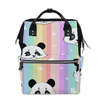 Amazon.com: vistyle mochila bolsa de pañales Rainbow Panda ...