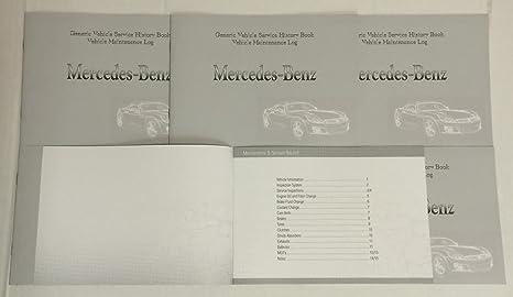 Cuaderno genérico de historial de mantenimiento apto para todos los coches Mercedes (en inglés)
