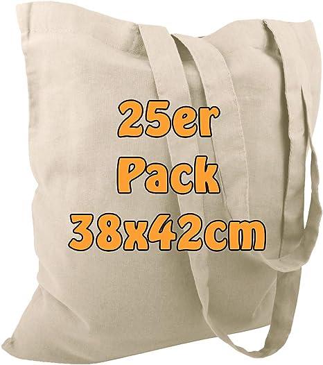 gris Cottonbagjoe Sac en toile de jute non imprim/é avec deux anses 38 x 42 cm Lot de 10 Coton
