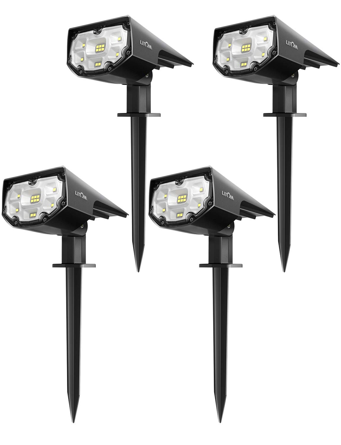 LITOM Solar Landscape Spotlights 12 LED for trees
