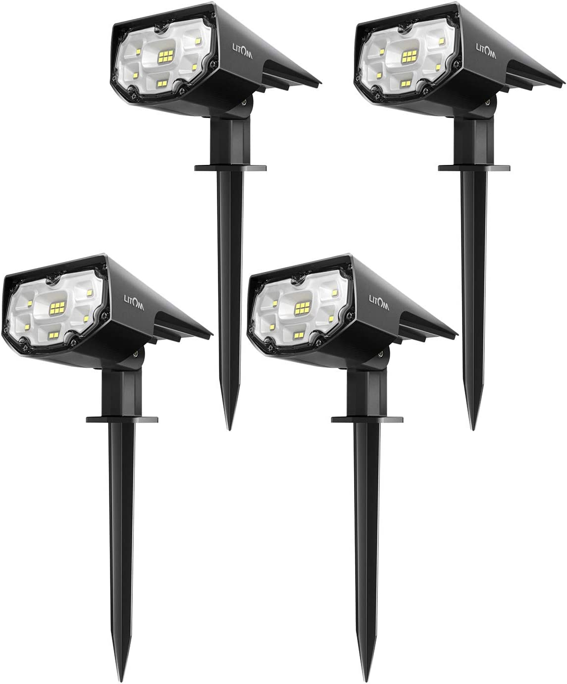 LITOM 12 LEDs Solar Spot Lights