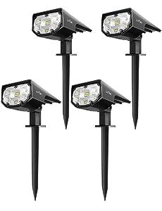 LITOM LED Solar Landscape Spotlights
