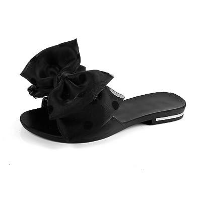 spyman New Women Sandals Flip Flops and Bowtie Sweet Polka Dot Zapatillas Plana Zapatos Women Summer