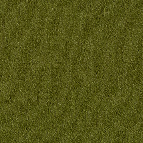 Riley Blake Designs Melton Wool Blend Fabric by The Yard, Olive