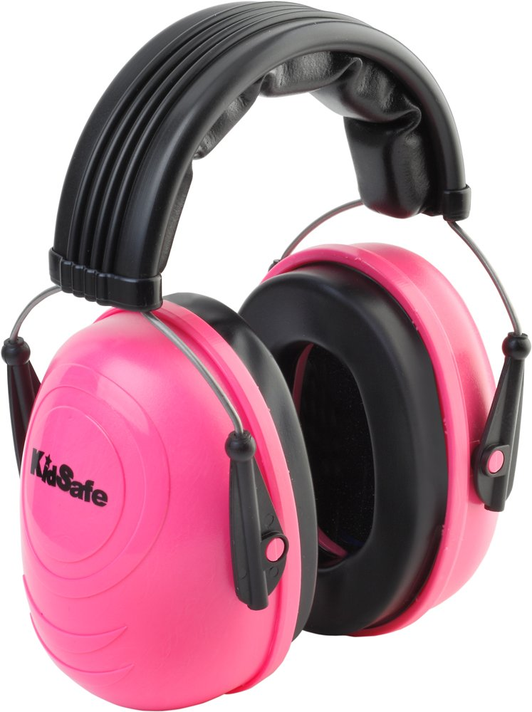 KidSafe Hearing Protector Over-the-Head Earmuffs by TASCO, NRR 25, Made in USA, Pink