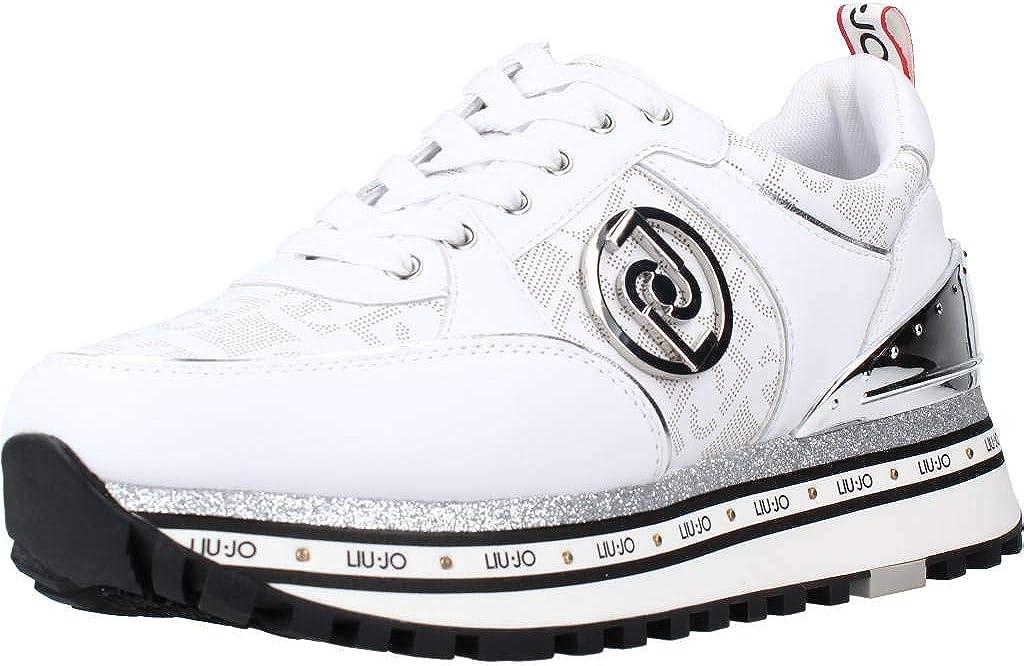 Scarpe Donna Liu-Jo Sneaker Mod. Silvia in Ecopelle Colore Bianco DS21LJ09