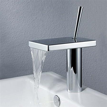 Modern Waterfall Tap Luxury Sink Basin Hot//Cold Mixer Faucet Bathroom Brass Set